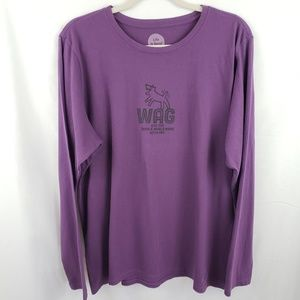 """Life is Good NWOT """"Wag"""" Long Sleeve Shirt Size XL"""